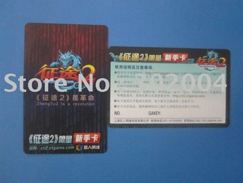 High quality paper game card , MOQ:10.000pcs