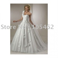 Free shipping 2011new style wedding dress/ one-shoulder sexy wedding dress/ wedding gown / bridal dress