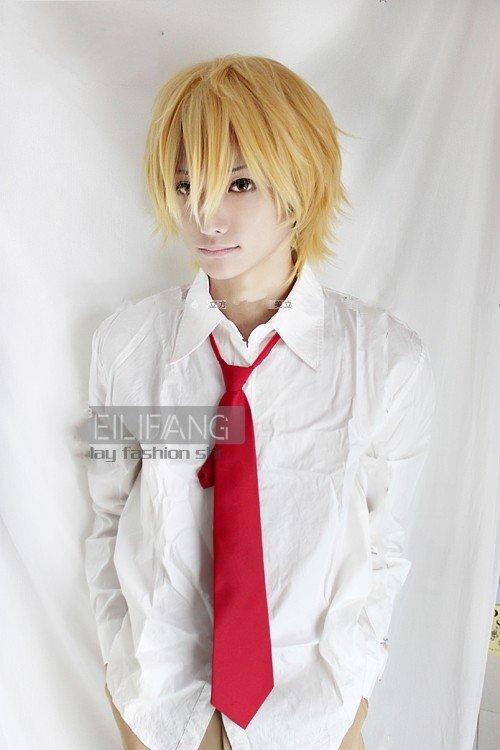 تقرير عن فرقة vocaloid Usui-Takumi-Short-Mixed-font-b-golden-b-font-Straght-Cosplay-Party-font-b-Hair-b