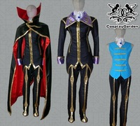 Freeshipping Hot Selling low price Cheap Cosplay Costume C1014 Code Geass Zero Uniform