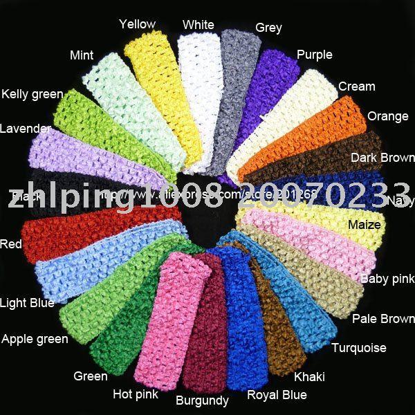 "wholesale 1.5"" Crochet headbands waffle headbands for baby toddler girls 24colors U-Pick(China (Mainland))"