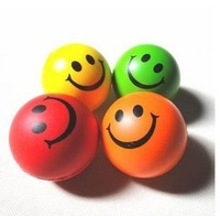 Educational Toys/Squeeze Ball / solid elastic ball / elastic smile ball / small ball / QQ smiley ball pu ball 22g