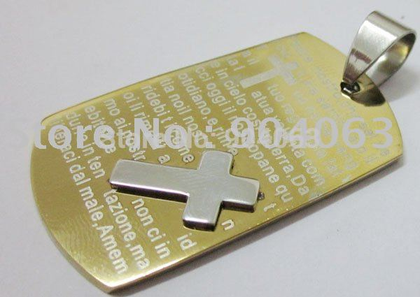 11.99$/5pcs Wholesale Popular hot sell New Guaranteed 100% Stainless Steel Cross Pendant+shipping free(China (Mainland))