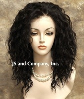 16 inches NEW Style Heat Safe French Lace Front Wig Wavy Dark Brown Wig