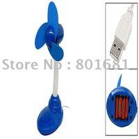 Free Shipping+Tracking number!! 2pcs/lot Blue USB FAN Portable USB Desktop Laptop Desk Cooler Cooling Fan with battery