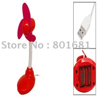 Free Shipping+Tracking number!! 2pcs/lot RED USB FAN Portable USB Desktop Laptop Cooling Fan with battery