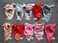 Free shipping 20pcs/lot Janpan Child Infants toddler Cotton Baby Bibs Scarf Bandage Neckerchief 10 patterns