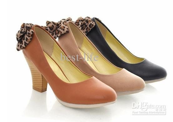 Ribbon / the tendon / wedding shoes / dress shoes / Bride shoes / high heels S21K* Fashion Leopard(China (Mainland))