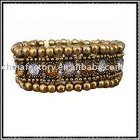 one row stretch round rhinestone alloy bracelets jewelry