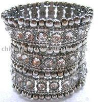 fashion3rows elastic zinc alloy jewelry bracelet