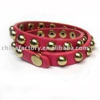 2011 fashion new jewerly one row red plain wrist wrap bracelet