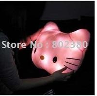 Free shipping hello kitty LED Pillow luminous pillow cartoon light pillow super cute for girl friend birthday gift big size