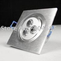 Free shipping 3W high power LED spotlight / led Square Ceiling spotlight 10pcs
