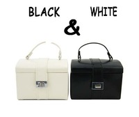 Wholesale & Retail A special style for Ladies' makeup box/Fashion black and white jewellery box