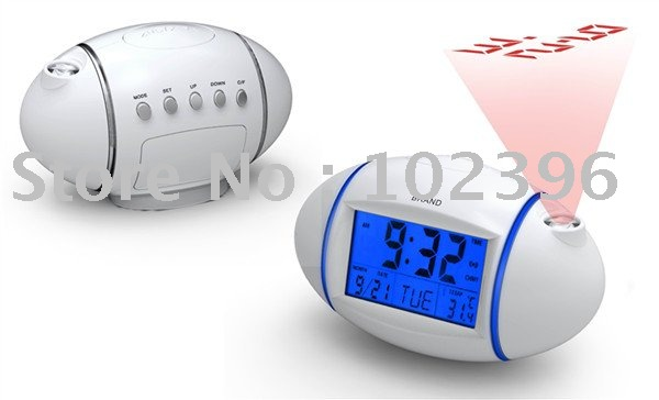 Free shipping 2011 Factory Sale Egg Shape Projection Clock / LED Projector /Desktop Clock / Lowest price(China (Mainland))