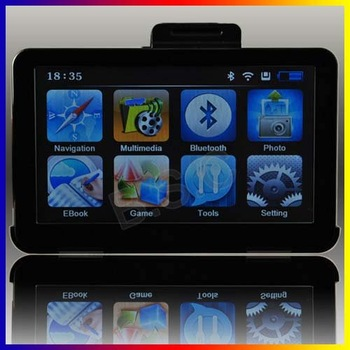 7 inch Bluetooth Portable  Car GPS Navigator  FM Av-in  4GB TF Card MAP +Free Shipping