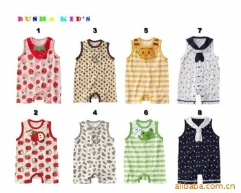 Busha Baby/babay/toddler/infant/kids Pajamas short sleeve  Romper jumpsuit rompers organic cotton clothes-free shipping
