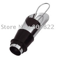 Stainless steel&Silicone,Wine pourer,500pcs/lot,Wine accessory