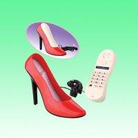 Fashion cute high heels fixed phone / landline