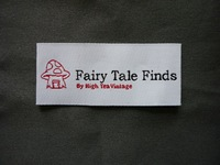 woven label for cloth, size:2cmx5cm, color:white background with yellow writing, straight cut