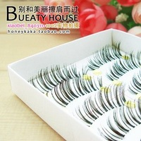 free shipping Hand False Eyelashes,Seamless and transparent stems False Eyelashes, clutter models, the tail longer section