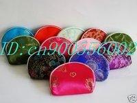 Free Shipping! Wholesale Mixed Color 100 PCS /lot Silk Purse Wallet Makeup MP3 Bag Xmas Lover Birthday Christmas Gift silk W08