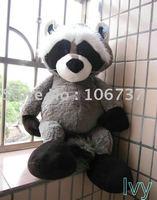 "Round NICI Gray Raccoon Stuffed Plush 31""NEW"