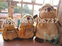 "Roundish Russ Brown Scarf Hedgehog Stuffed Plush 15""new"