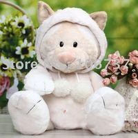 "NICI Creamy Girl Snowcat/Racoondog Stuffed 13""new"