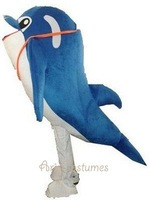 Ocean Animal Dolphin Mascot Costume EPE material free shipping 100% real pictures