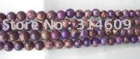 Hot Sale Purple Sea Sediment/Imperial Jasper Loose Bead Fashion Jewelry Round 6mm