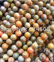 Hot Sale Orange Sea Sediment Jasper Loose Bead Fashion Jewelry Round 12mm