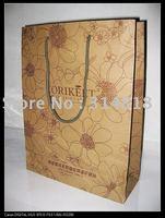 factory OEM kraft paper bags gift packaging bags whole sale/ retail  free sample