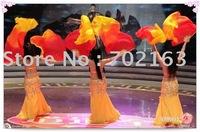 22pcs/lot Belly Dance silk fan veils wholesale Fire Color