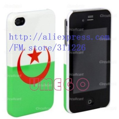 New Fashion Algeria Country Flag Hard Back Cover Case For Iphone 4 4G(China (Mainland))