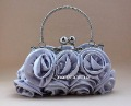 Bridal Silver Charming Rose Wedding Purse Clutch,Wholesale,Free shipping