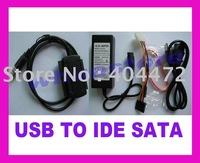 5pc/lot free shipping NEW USB 2.0 to IDE SATA 2.5 3.5 Hard Drive Cable