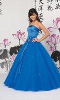 Stock Blue wedding Bridal Prom Dress