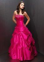Stock Red wedding Bridal Prom Dress