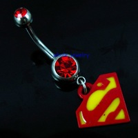 2012 hot sale fashion corn piercing body jewelry, belly button ring,tags style (JFB-7387)