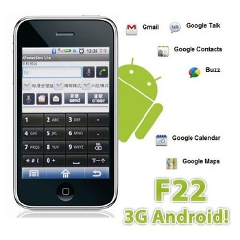 F22 Google Android 2.1 Smartphone with WCDMA GSM Multi Touch Screen GPS WIFI  Accept Paypal