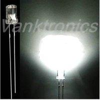 1000pcs/Lot New 3mm Flat Top White LED Wide Angle light 20000 MCD