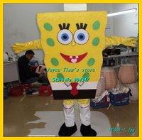 Spongebob Mascot costume Christma fur Cartoon Mascot Costume Cartoon Character Costume for Adult Free shippping