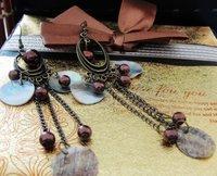 MIX(Min.$18)wholesale fashion  coffee shell  lady's alloy earring FE-024