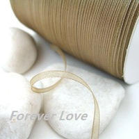 New Arrival -- 3mm 500YD Camel Satin Ribbon Wedding Favour Craft Supplies
