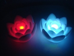 cheapest price,high quality,beautiful ,Led Lotus Flower Light,led illumination,Lotus love lamp,led wishing lights,flower light,l(China (Mainland))