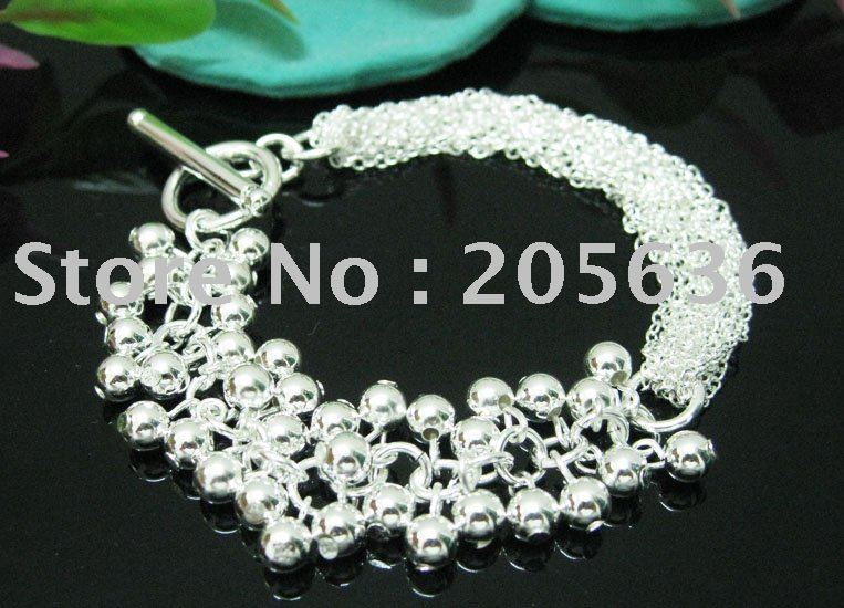 hot selling 925 silver bracelet.925 silver jewelry Bracelet.chain Bracelet.925 Bracelet.Free shipping wholesale(China (Mainland))