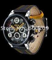 Three Dial Watch Available List Montre neuve Leather Strap mens watches watc chronograph BRM 3MVT-52