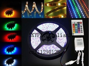free shipping 4roll 5050 led RGB strips 30led/m+4pcs controller+4pcs powrer supply