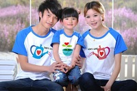 Free Shipping - cotton short sleeve family T-shirt with tree growing graphic, great for holidays or family outing (MOQ: 3pcs))